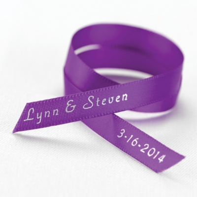 Printed Wedding Ribbons For Wedding Favors Personalized Satin